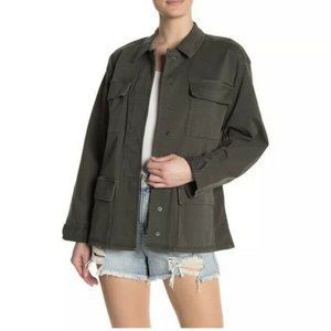 Good American The Utility Jacket NEW Size S Olive